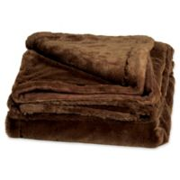 Cariloha® Plush Throw Blanket in Truffle