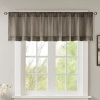 Madison Park Emily Faux Silk Solid Pleated Window Valance in Pewter