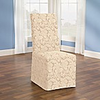 Sure Fit® Scroll Dining Chair Cover in Champagne