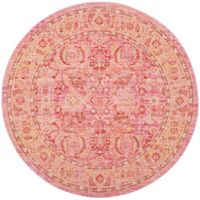 Safavieh Windsor Victoria 6-Foot Round Area Rug in Pink
