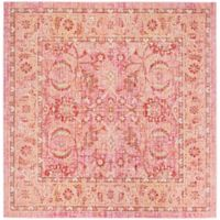 Safavieh Windsor Victoria 6-Foot Square Area Rug in Pink