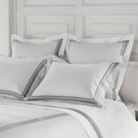 Frette at Home Arno King Pillow Sham in White/Grey