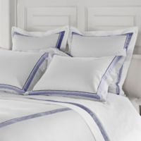 Frette at Home Arno King Pillow Sham in White/Sapphire