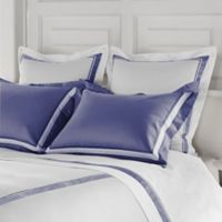 Frette at Home Arno King Pillow Sham in Sapphire/White