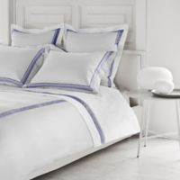Frette at Home Arno California King Sheet Set in White/Sapphire