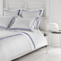 Frette at Home Arno King Sheet Set in White/Sapphire