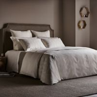 Frette At Home Levanto Standard Pillow Sham in Ivory/Stone