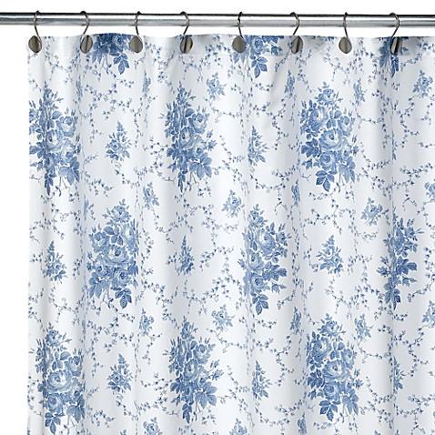 Laura Ashley Emilie Fabric Shower Curtain 100 Cotton