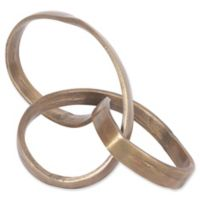 Ren-Wil Ribbon Sculpture in Antique Brass