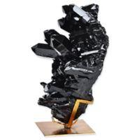 Ren-Wil Burnett Small Geode Statue in Black