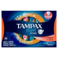 Tampax Pocket Pearl 36-Count Unscented Super Plus Plastic Tampons