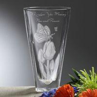 Springtime Moments Etched Crystal Vase