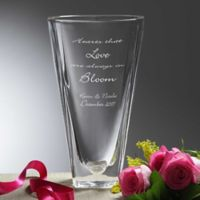 Love In Bloom Crystal Vase
