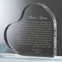 A Letter To Mom Heart Keepsake