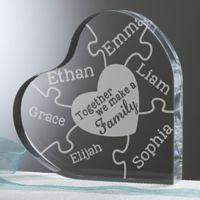 Together We Make A Family Heart Keepsake