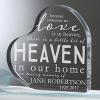 Heaven In Our Home Memorial Heart Keepsake
