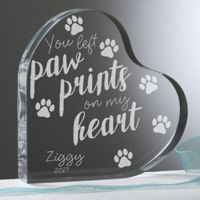 Paw Prints On My Heart Keepsake