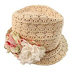 Rising Star™ Newborn Crochet Lace Fedora in Ivory
