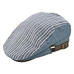 Rising Star™ Infant Stripe Chambray Cabby Hat in Blue