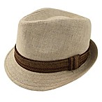 Rising Star™ Infant Linen Fedora in Ivory