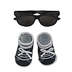 So'dorable 2-Piece Boys Sunglasses and Bootie Set in Black