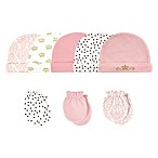 Hudson Baby® Size 0-6M 8-Piece Tiara Cap and Scratch Mitten Set