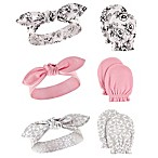 Hudson Baby® 6-Piece Floral Headband and Mitten Set