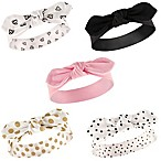Hudson Baby® 5-Pack Gold Dot Headbands