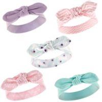 Hudson Baby® 5-Pack Peacock Headbands in Pastel