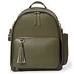 SKIP*HOP® Greenwich Simply Chic Backpack Diaper Bag in Olive