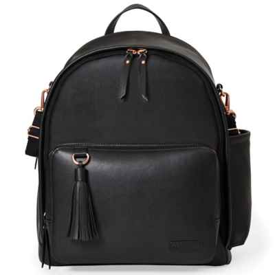 SKIP*HOP® Greenwich Simply Chic Diaper Backpack in Black