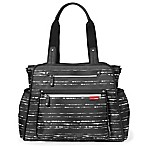 SKIP*HOP®  Grand Central Take-it-All Splatter Stripe Diaper Bag in Black/White