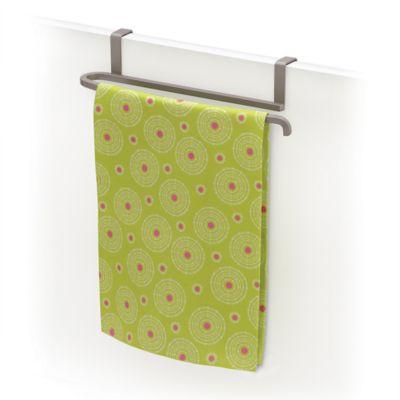 Lynk Over The Door Towel Bar In Satin Nickel