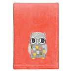 Trend Lab® Olive Owl Plush Blanket in Coral