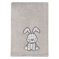 Trend Lab® Aztec Forest Bunny Plush Blanket in Grey