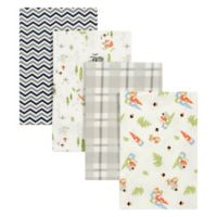 Trend Lab® 4-Pack Woodsy Gnomes Flannel Receiving Blankets