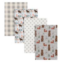 Trend Lab® 4-Pack Scandi Cocoa Flannel Receiving Blankets in Grey