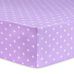 Trend Lab® Stars Flannel Fitted Crib Sheet in Purple