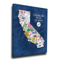 MLB Los Angeles Dodgers California State of Mind Canvas Print Wall Art