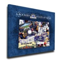 MLB Colorado Rockies Colorado State of Mind Canvas Print Wall Art