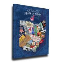 MLB Cleveland Indians Ohio State of Mind Canvas Print Wall Art