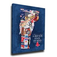 MLB Boston Red Sox Vermont State of Mind Canvas Print Wall Art