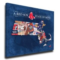 MLB Boston Red Sox Massachusetts State of Mind Canvas Print Wall Art