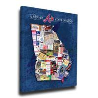 MLB Atlanta Braves Georgia State of Mind Canvas Print Wall Art
