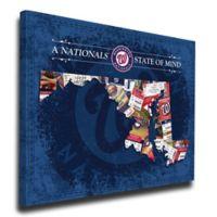 MLB Washington Nationals Maryland State of Mind Canvas Print Wall Art