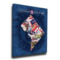 MLB Washington Nationals District of Columbia State of Mind Canvas Print Wall Art