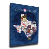 MLB Texas Rangers Texas State of Mind Canvas Print Wall Art