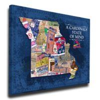 MLB St. Louis Cardinals Missouri State of Mind Canvas Print Wall Art