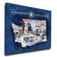 MLB Seattle Mariners Washington State of Mind Canvas Print Wall Art