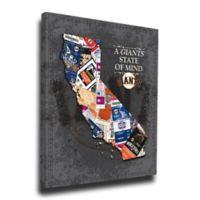 MLB San Francisco Giants California State of Mind Canvas Print Wall Art